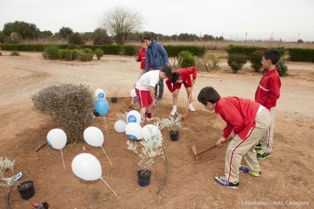Los pequeños del Miralmonte reforestan el Parque de los Exploradores - 5, Foto 5