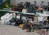 La Guardia Civil recupera 200 efectos sustra�dos en viviendas y naves industriales de la Regi�n