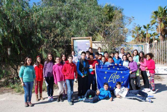 Los escolares de Mazarrón continúan aprendiendo sobre la malvasía cabeciblanca y su conservación, Foto 1