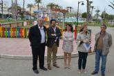Nueva zona de juegos, área biosaludable y mobiliario urbano en el Parque del Mar Reyes de España