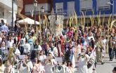 Procesión del Pueblo Hebreo y Misa de Domingo de Ramos en Puerto Lumbreras