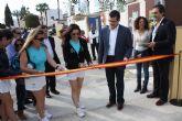Patty Llaguno y Eli Amatriain, pareja número 1 de pádel presentes en la inauguración de las pistas de pádel de Torre-Pacheco