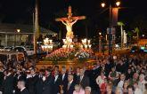 Vecinos y fieles acompañan al Cristo del Mar Menor en el Vía Crucis del Miércoles Santo