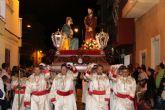 Numeroso p�blico arropa los desfiles procesionales de Puerto de Mazarr�n
