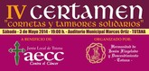 El próximo 3 de mayo se celebra el 'IV Certamen de Cornetas y Tambores Solidarios' a beneficio de la AECC