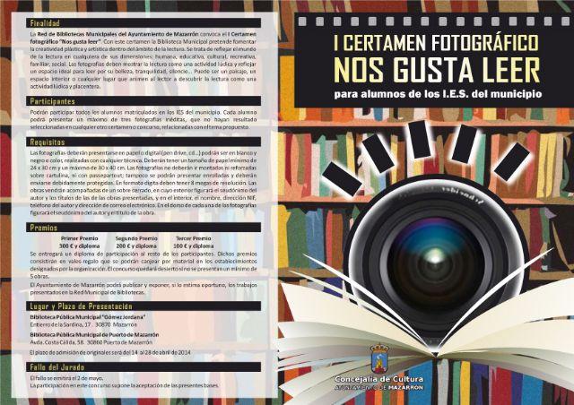 Ultimos días para participar en el I certamen fotográfico ´nos gusta leer´, Foto 2