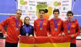 La pinatarense Cristina Gómez, subcampeona de Europa de selecciones nacionales sub 19 de squash