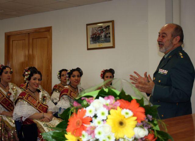 La Reina de la Huerta y sus damas de honor visitan las instalaciones de la Guardia Civil de Murcia. - 4, Foto 4