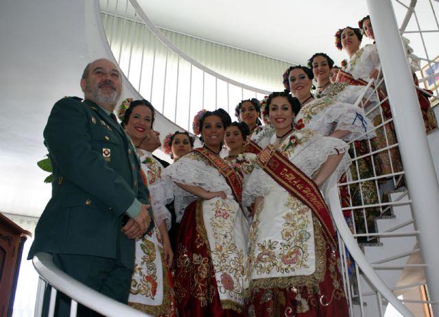 La Reina de la Huerta y sus damas de honor visitan las instalaciones de la Guardia Civil de Murcia. - 5, Foto 5