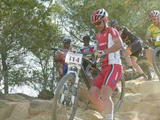 Juan Antonio Sánchez, campeón regional de ciclismo adaptado este fin de semana, con varias carreras en Murcia