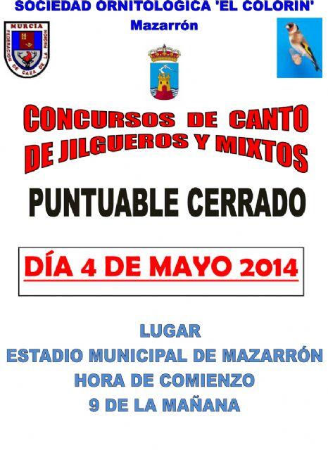 El Colorín celebra este domingo 4 de mayo su concurso de canto de jilgueros y mixto - 1, Foto 1