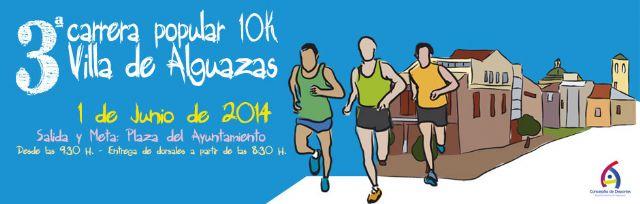 Camisetas gratuitas para los participantes en la III Carrera Popular Villa de Alguazas - 1, Foto 1