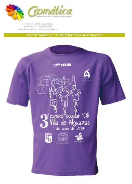 Camisetas gratuitas para los participantes en la III Carrera Popular Villa de Alguazas - 2, Foto 2