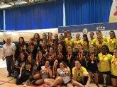 El equipo femenino de la Ucam, ganador del campeonato universitario de España de Voleibol
