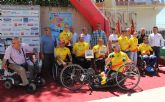 Deportistas de élite participan en la prueba de la Copa de España de Ciclismo Adaptado en Puerto Lumbreras