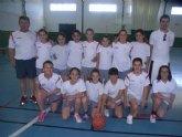 Los colegios Reina Sofia y Santa Eulalia disputaron la final de la fase local de baloncesto alev�n femenino de Deporte Escolar