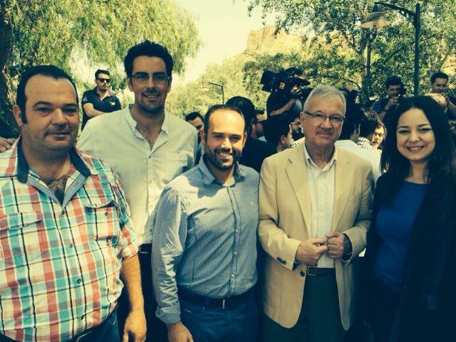 Concejales de Totana participan en un acto con jóvenes en Archena junto a los candidatos Arias Cañete y Valcárcel, Foto 1