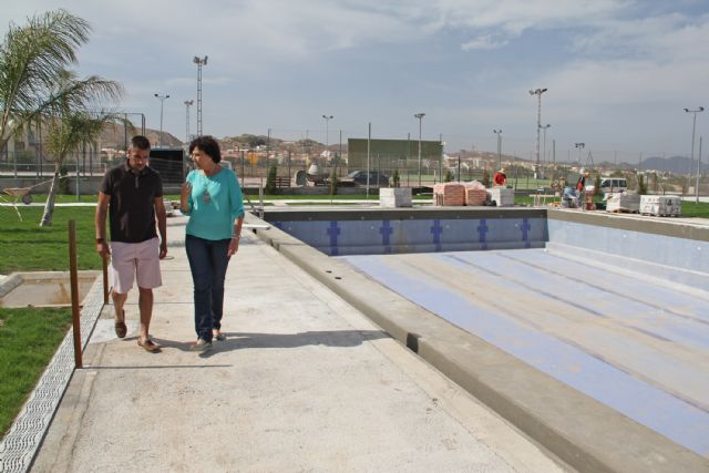 Recta final para las obras en las piscinas municipales de verano de Puerto Lumbreras - 1, Foto 1