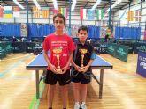 Miguel Ortiz en infantil y Juan Francisco L�pez en alev�n se alzan con en el oro en el III Open Regi�n de Murcia de Tenis de Mesa