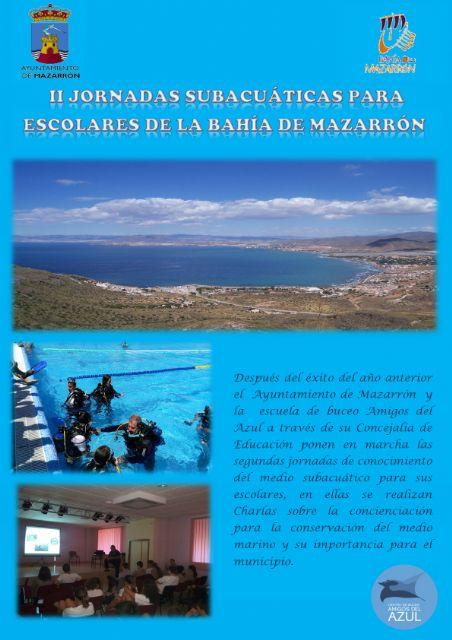 140 escolares participarán en las II jornadas subacuáticas de la Bahía de Mazarrón - 1, Foto 1