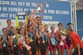 La lumbrerense Mabel Gallardo con su equipo Diablillos de Rivas se proclaman campeonas de la Copa del Rey de Triatlón por relevos en el Campeonato de España 2014