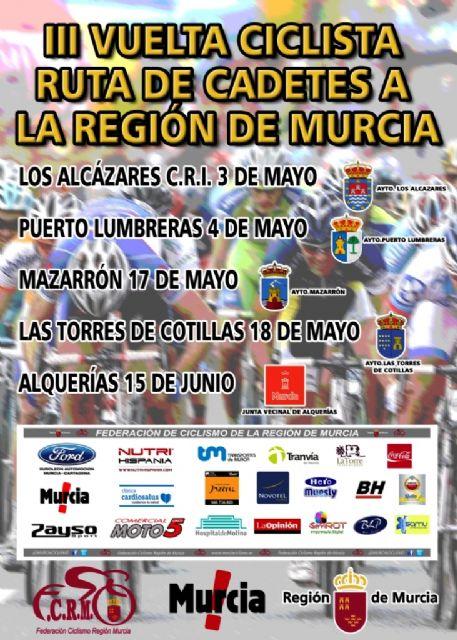 La III Vuelta Ciclista Ruta Cadetes a la Región de Murcia llega a Mazarrón - 1, Foto 1