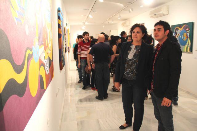 El joven artista lumbrerense Salva Piñero inaugura su exposición de pintura Locomotoras en el Centro Cultural Casa de los Duendes - 1, Foto 1