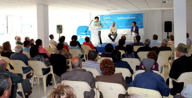 El Partido Popular de Puerto Lumbreras celebra un acto sectorial con personas mayores en el Centro de la 3ª Edad Vicente Ruiz Llamas - 1, Foto 1