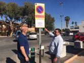 El Ayuntamiento torreño instala señales fijas más seguras para la prohibición de aparcar en actos especiales