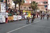 Un sprint masivo decide en Las Torres de Cotillas la cuarta etapa de la 'III Vuelta Ciclista Ruta de Cadetes a la Región de Murcia'
