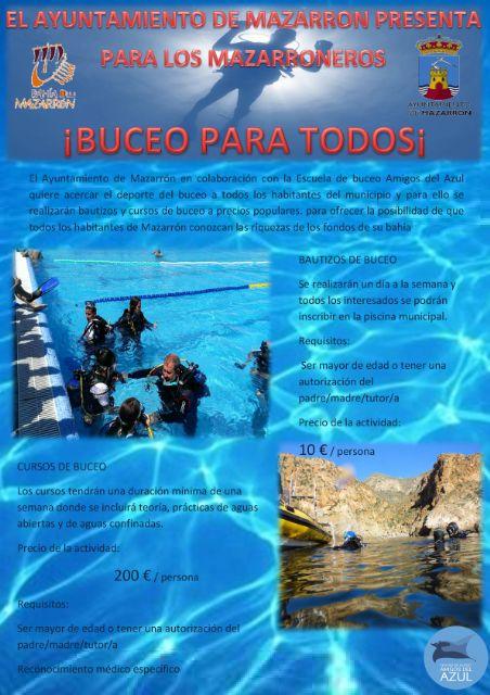 El ayuntamiento y Amigos del azul invitan a los mazarroneros a conocer los fondos marinos a precios populares - 2, Foto 2
