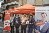 Ciudadanos (C's) de Murcia critica que el PP prohíba al partido instalar una carpa para repartir publicidad electoral