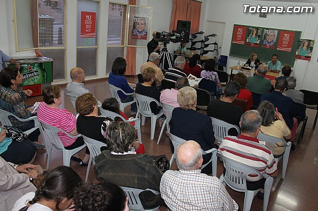 El PSOE de Totana celebró un mitin en el Local Social del Barrio San Francisco, Foto 1
