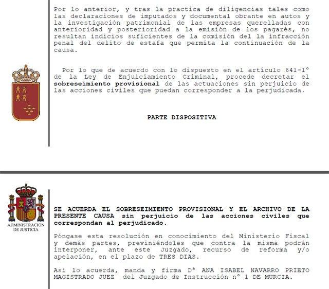 Comunicado sobre archivo de la querrella contra el concejal Andrés Valera - 1, Foto 1