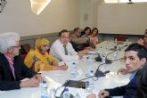El rector Orihuela muestra la adhesión de la Universidad de Murcia a la causa del pueblo saharaui