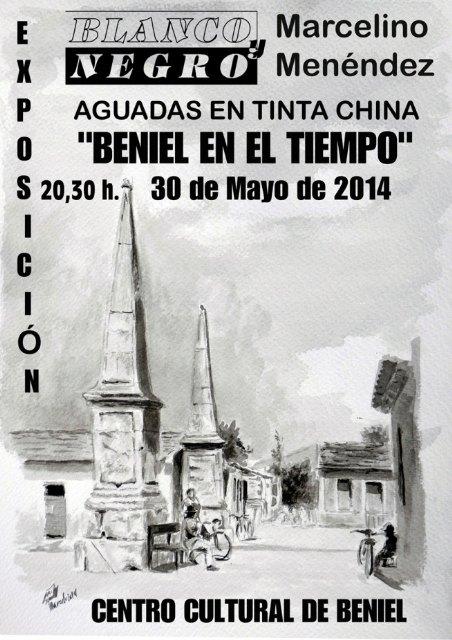 """El polifacético artista Marcelino F. Menéndez Ablanedo expone Aguadas en Tinta China """"Beniel en el Tiempo"""" - 1, Foto 1"""