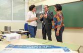 El director general de Universidades visita la extensión de la Escuela Oficial de Idiomas de Puerto Lumbreras