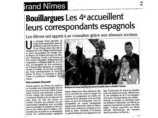 """Intercambio del IES Prado Mayor con el Collège """"Les Fontaines"""", Bouillargues (Nîmes) - 6"""