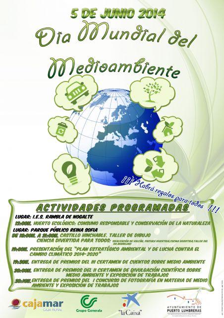 Puerto Lumbreras celebra mañana el Día Mundial del Medio Ambiente con actividades en el Parque Público Reina Sofía - 1, Foto 1