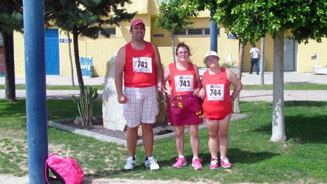 """Mari Carmen Robles, a student Occupational Center """"José Moya"""" runners-up Spain proclaimed in 100 and 200 meter dash"""