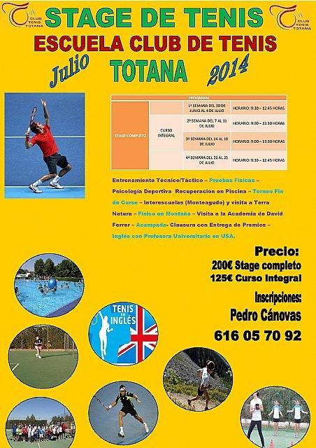 Summer Stage July 2014 in Totana Tennis Club