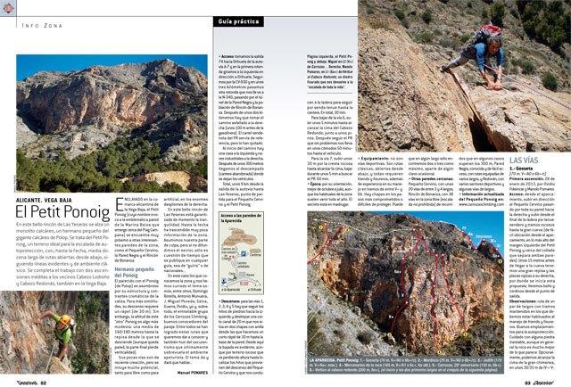 """El escalador totanero José Miguel Gómez Poveda, en la Revista """"Desnivel"""" de este mes de junio, Foto 3"""