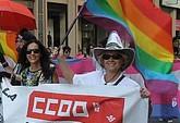 Concejales de IU-verdes Totana asisten a la manifestación del orgullo LGTB, que se desarrolló ayer por la tarde en Murcia