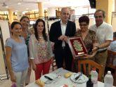 El Alcalde celebró con los Mayores del Centro de San Javier su hermanamiento con los del Torres de Cotillas