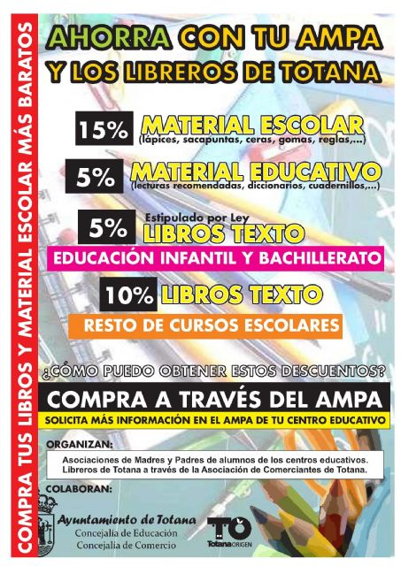 They promote a campaign for the most advantageous acquisition of textbooks and school supplies for the course 2014/15