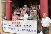 CCOO se concentra ante el Palacio de Justicia de Totana
