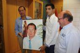 El Alcalde, obsequiado con un retrato pintado por un joven artista de La Paz