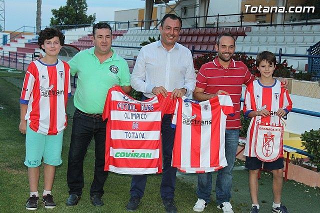 Ol�mpico de Totana y Granada CF, de Primera Divisi�n, suscriben un acuerdo de colaboraci�n, Foto 1