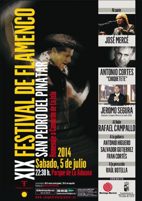 Mercé, Chiquete, Jeromo Segura y el bailaor Rafael Campallo homenajean a Camarón en San Pedro - 1, Foto 1
