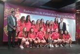 La totanera Macarena González en la Gala fin de temporada de la Federación de Fútbol